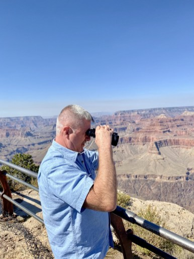 Jerry Grand Canyon binoculars - Take the Train to Grand Canyon National Park: An Insider's Guide