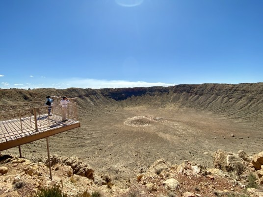 Meteor Crater observation platform - Tons of Fun Things to Do in Winslow Arizona