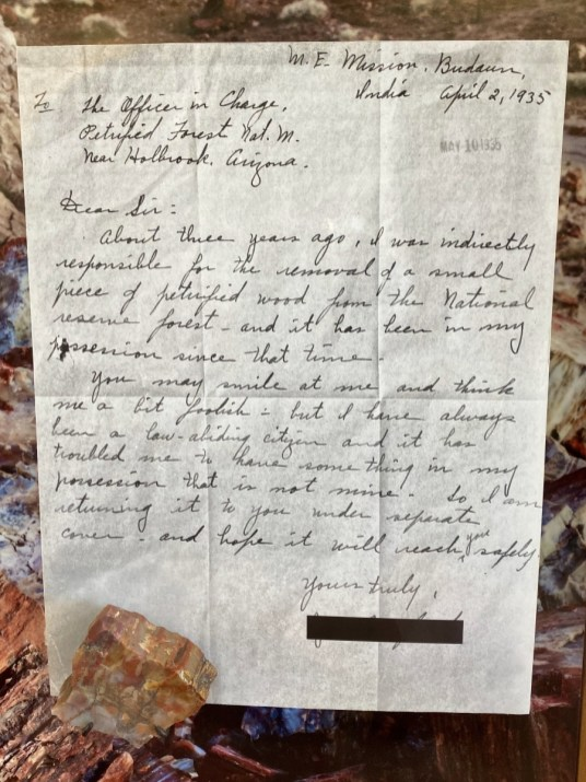 Petrified Forest Guilt Letter Adult - Drive the Painted Desert & Petrified Forest National Park