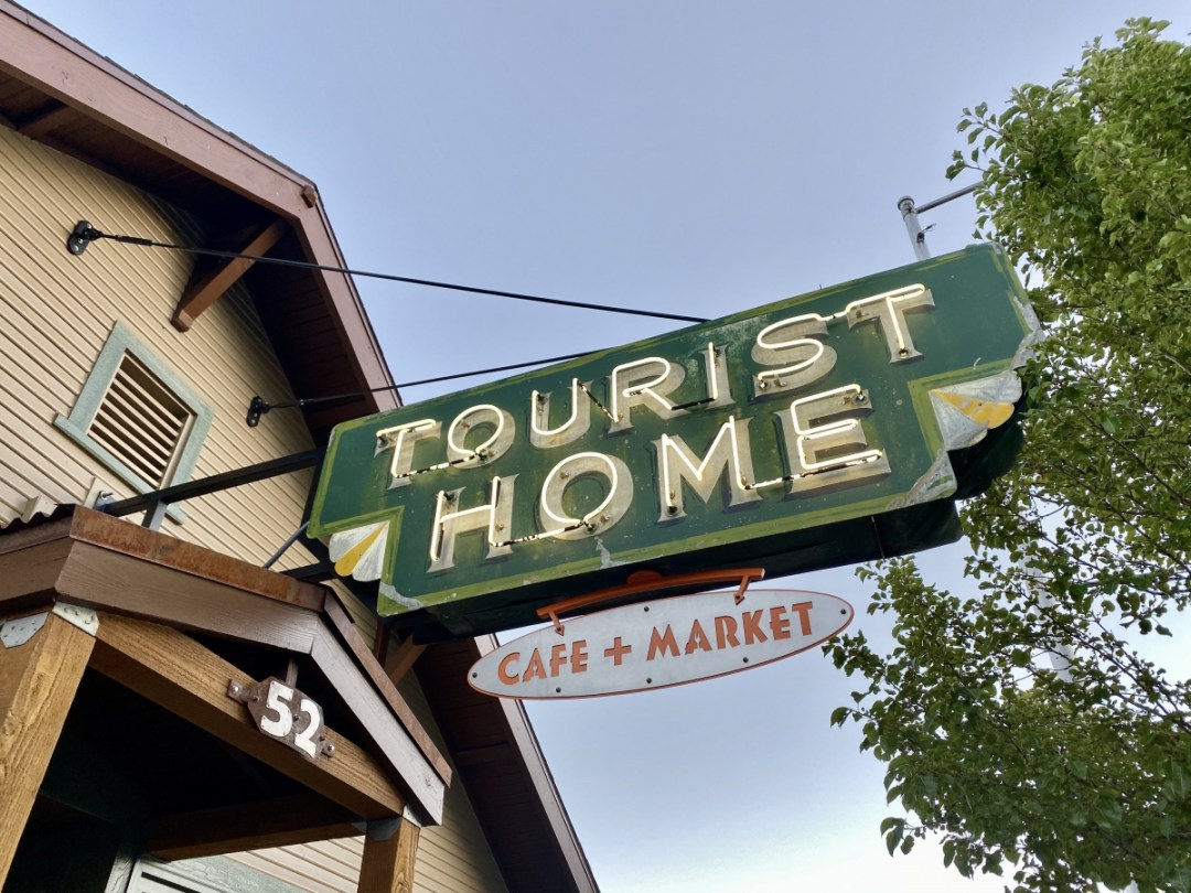 Tourist Home Cafe neon sign - Tour Flagstaff Attractions On Your Own