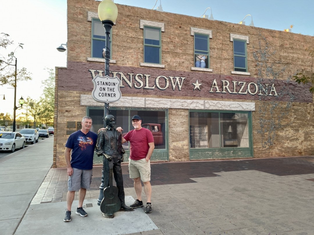 Howard Jerry Standing on the Corner Winslow AZ - Tons of Fun Things to Do in Winslow Arizona