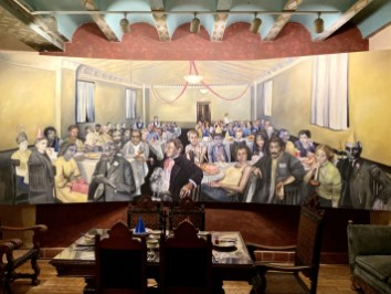La Posada Party in Purgatory painting - Tons of Fun Things to Do in Winslow Arizona