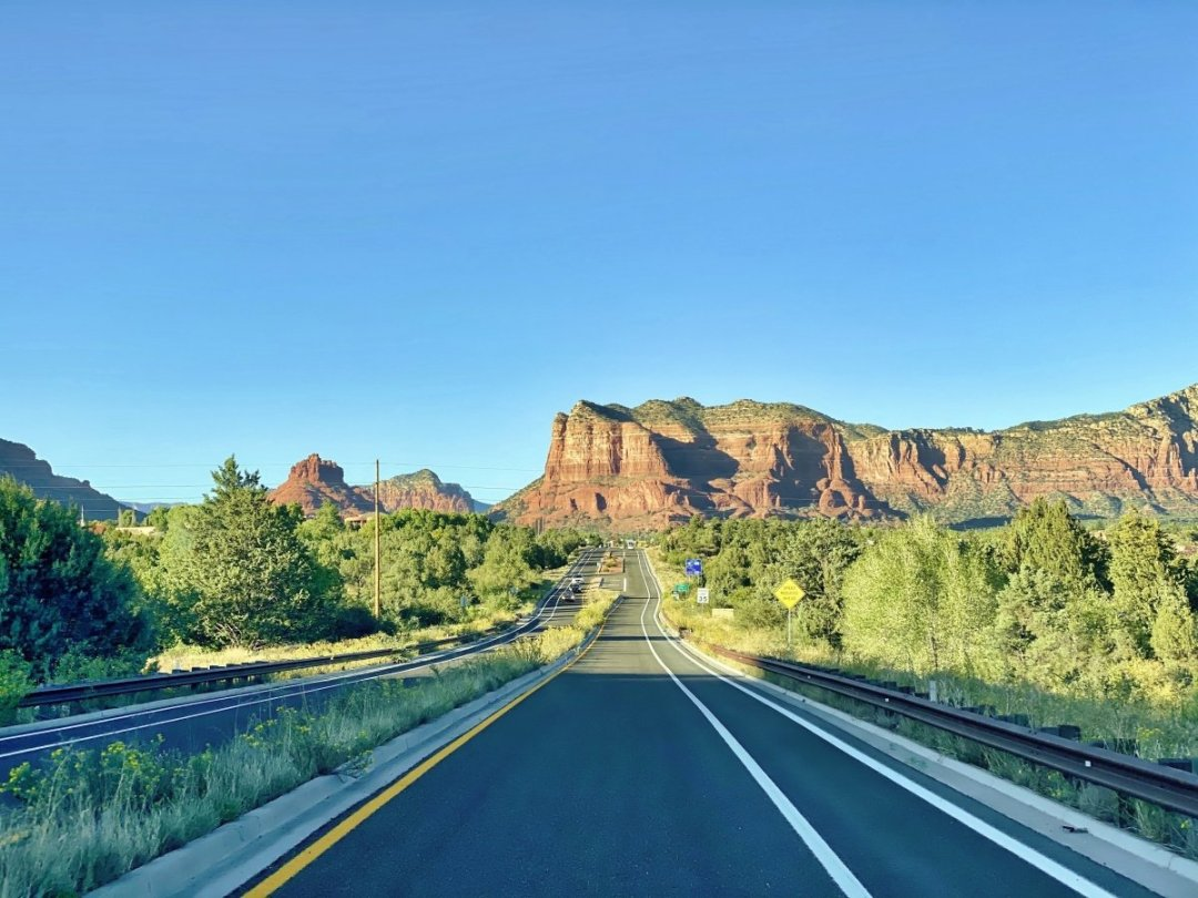 Red Rock Scenic Byway driving north - 3 Stunning Sedona Scenic Drives