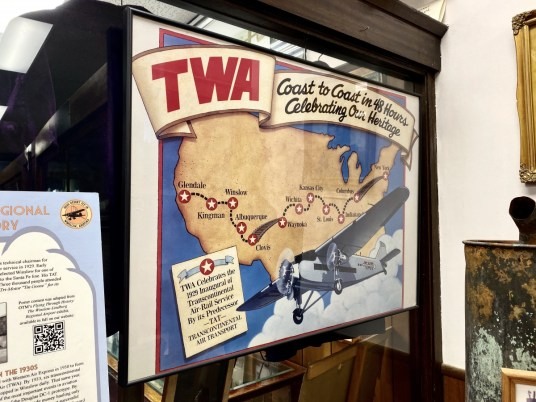 TWA vintage map - Tons of Fun Things to Do in Winslow Arizona