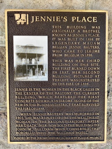 Jerome AZ Jennies Place marker - 7+ Amazing Attractions in Verde Valley AZ