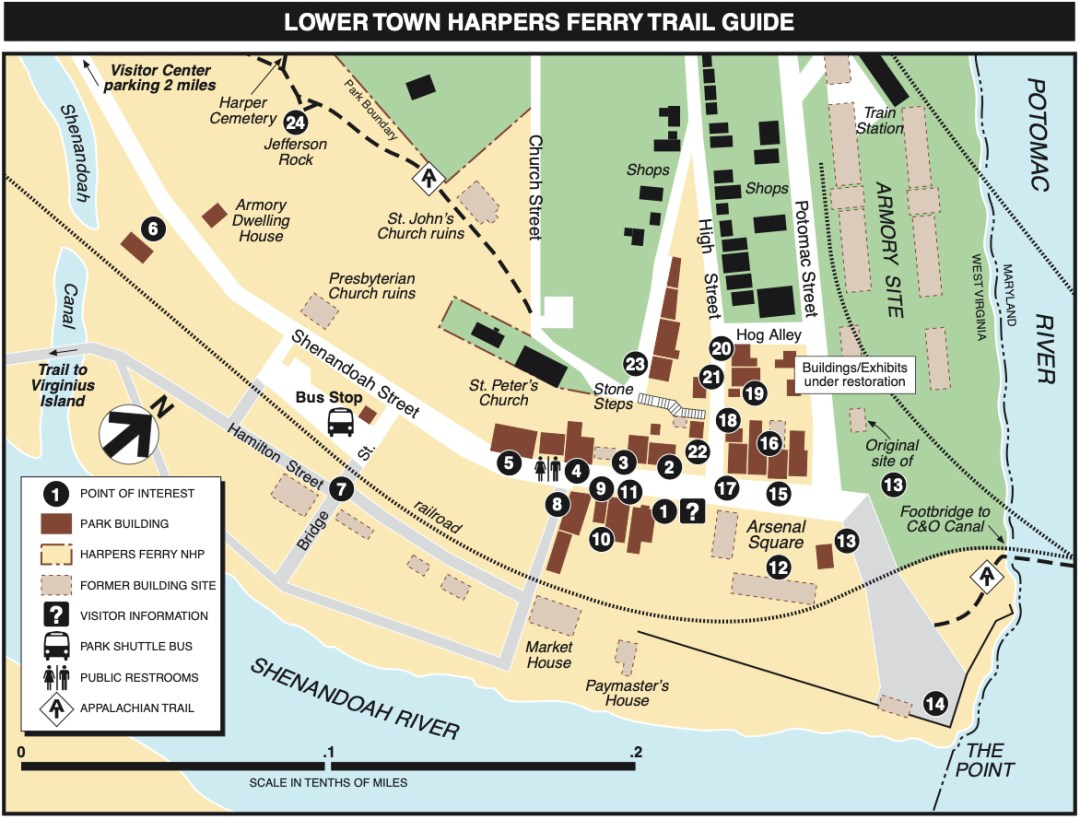 Lower Town Harpers Ferry Trail Guide - Things to Do in Harpers Ferry WV: History, Hikes & Whitewater