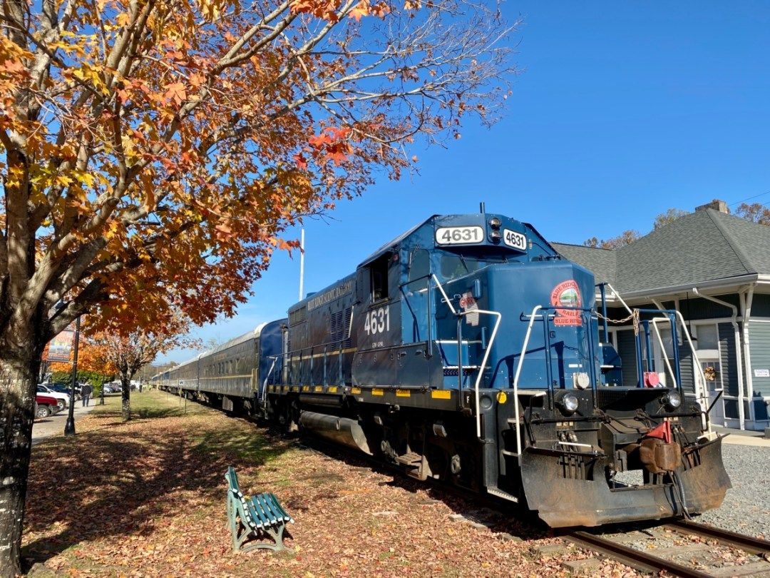 Blue Ridge Scenic Railway engine - Hop a Scenic Mountain Train in Blue Ridge, Georgia