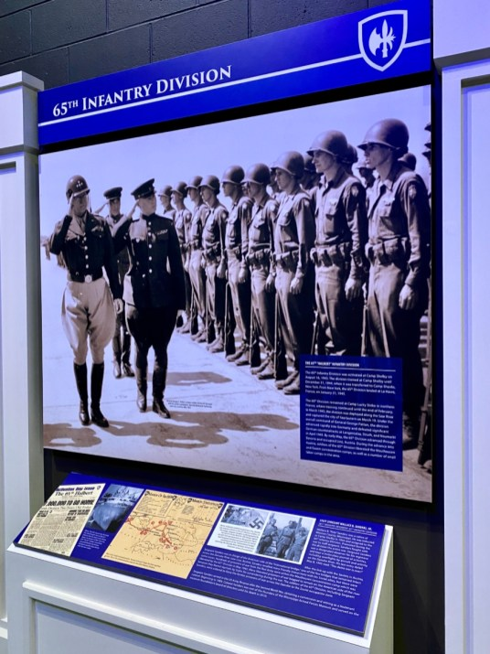 65th Infantry panel - Visit the Mississippi Armed Forces Museum at Camp Shelby