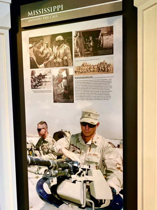 Mississippi Nationl Guard panel - Visit the Mississippi Armed Forces Museum at Camp Shelby