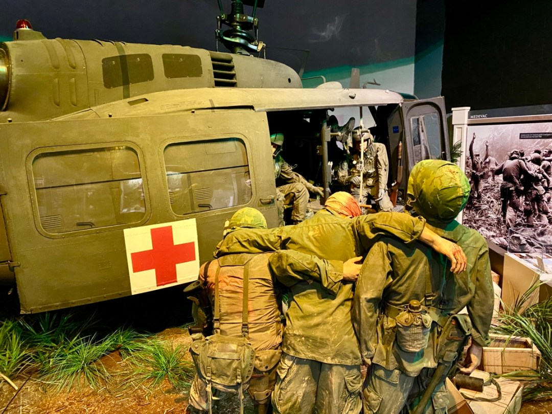 Vietnam Huey Helicopter exhibit - Visit the Mississippi Armed Forces Museum at Camp Shelby
