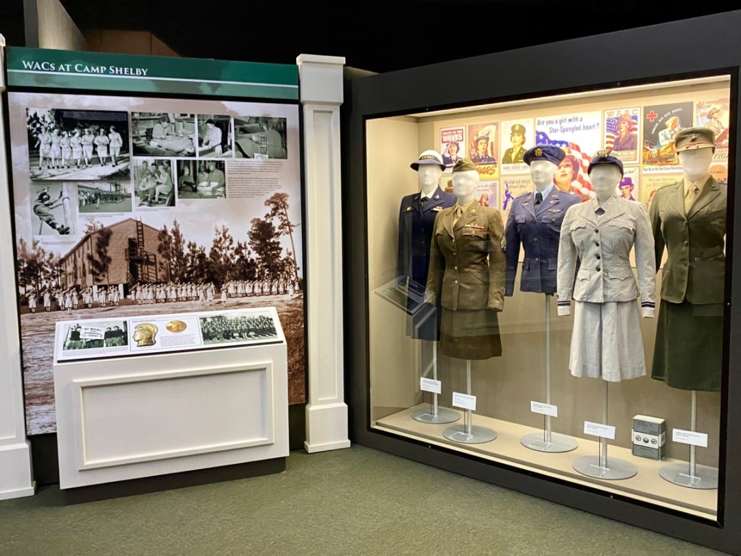 Women Armed Forces exhibit - Visit the Mississippi Armed Forces Museum at Camp Shelby