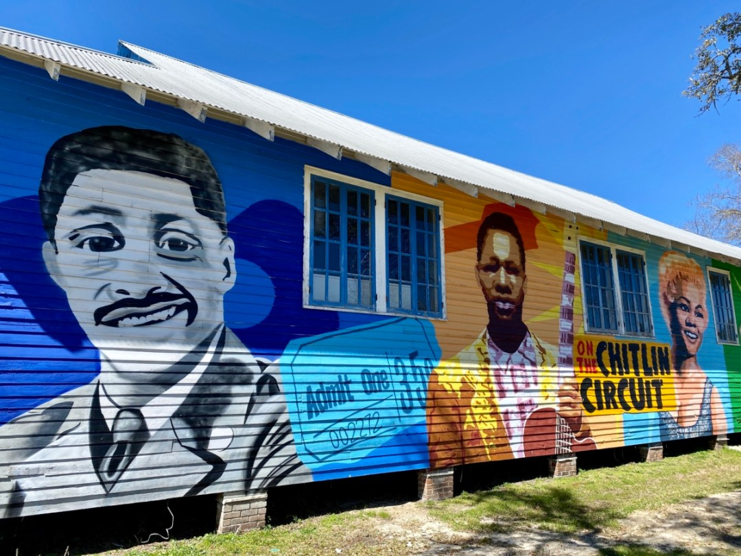 100 Men Hall mural - Discover Coastal Mississippi's African American Heritage