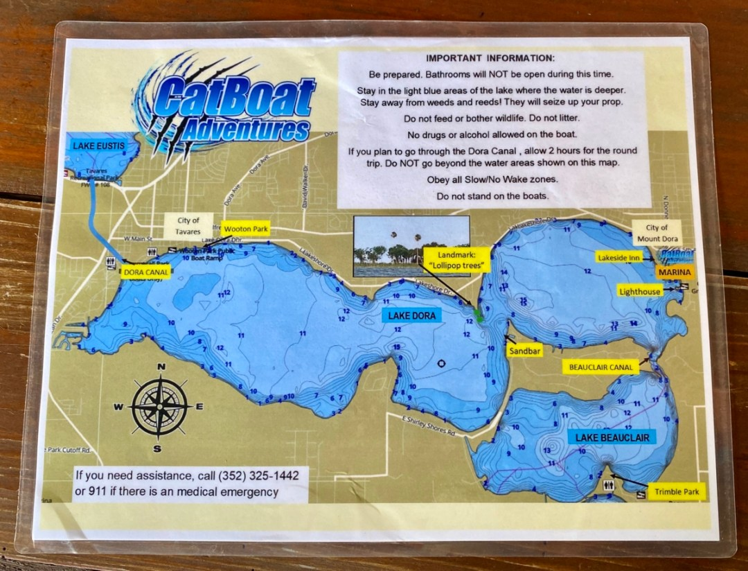 CatBoat Adventures lake map - Discover Lake County Florida Outdoor Adventures
