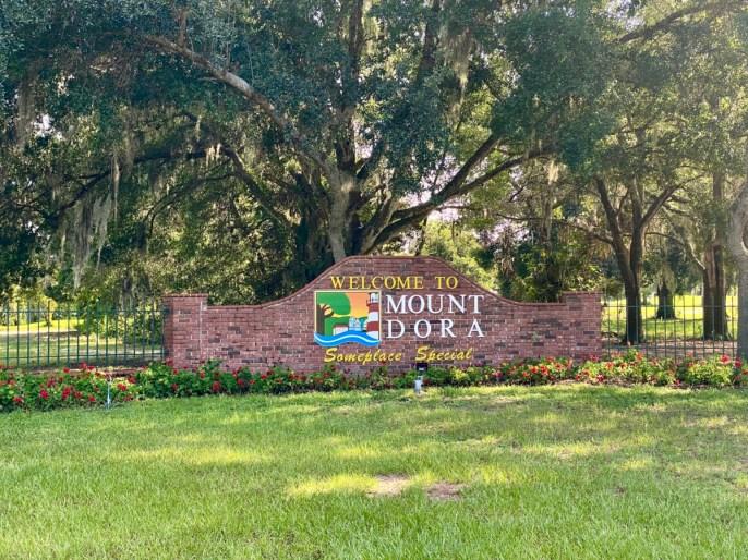 Mount Dora sign - Discover Lake County Florida Outdoor Adventures
