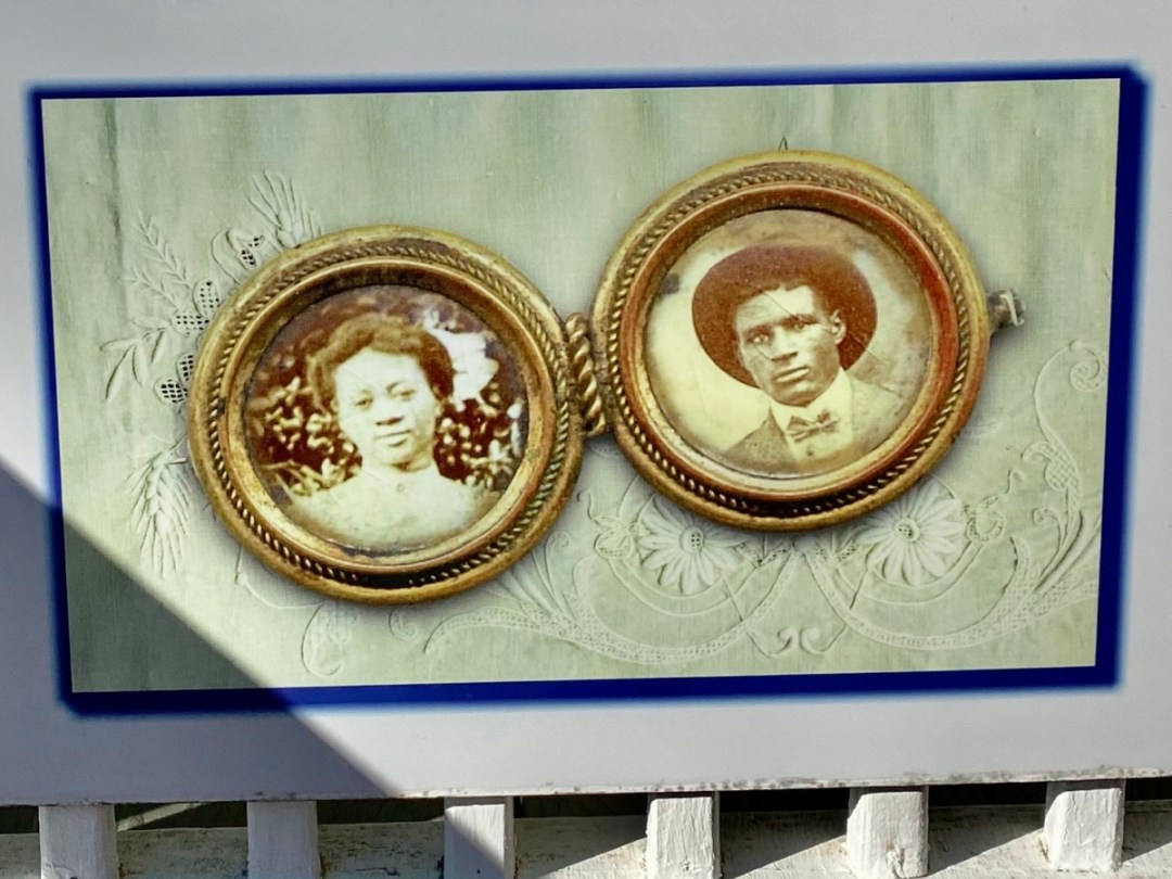 Pleasant and Georgia Reed locket - Discover Coastal Mississippi's African American Heritage