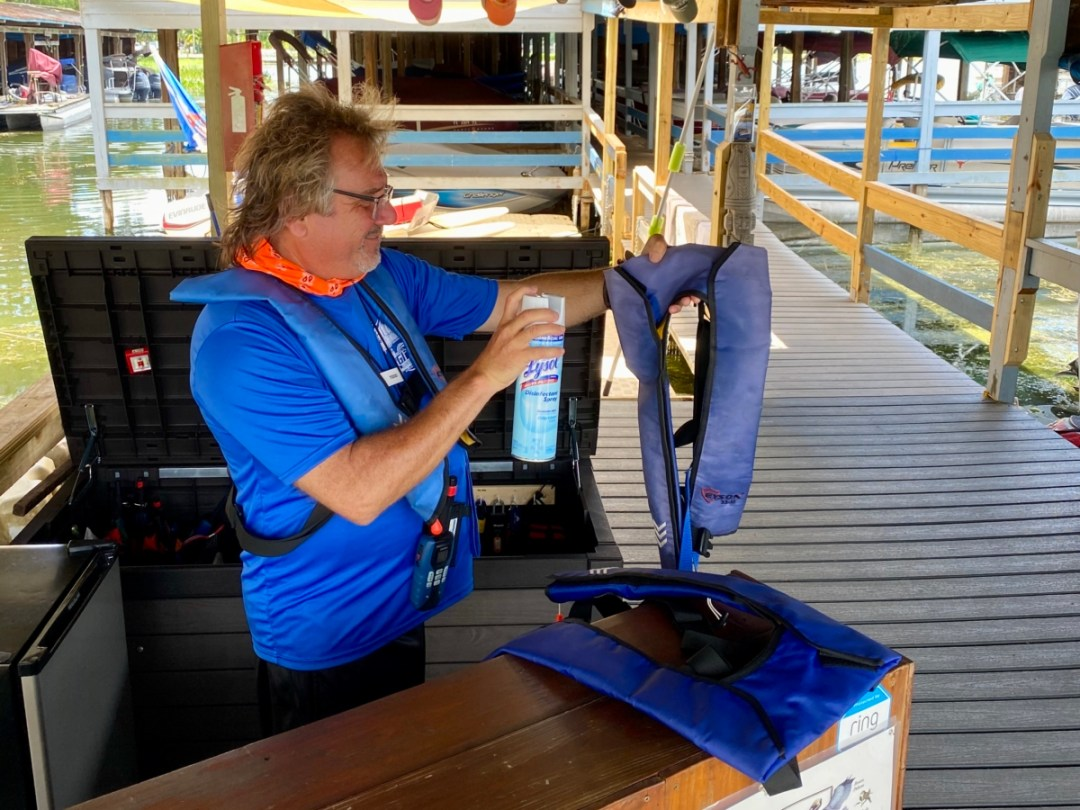 Sanitizing Life Jackets - Discover Lake County Florida Outdoor Adventures