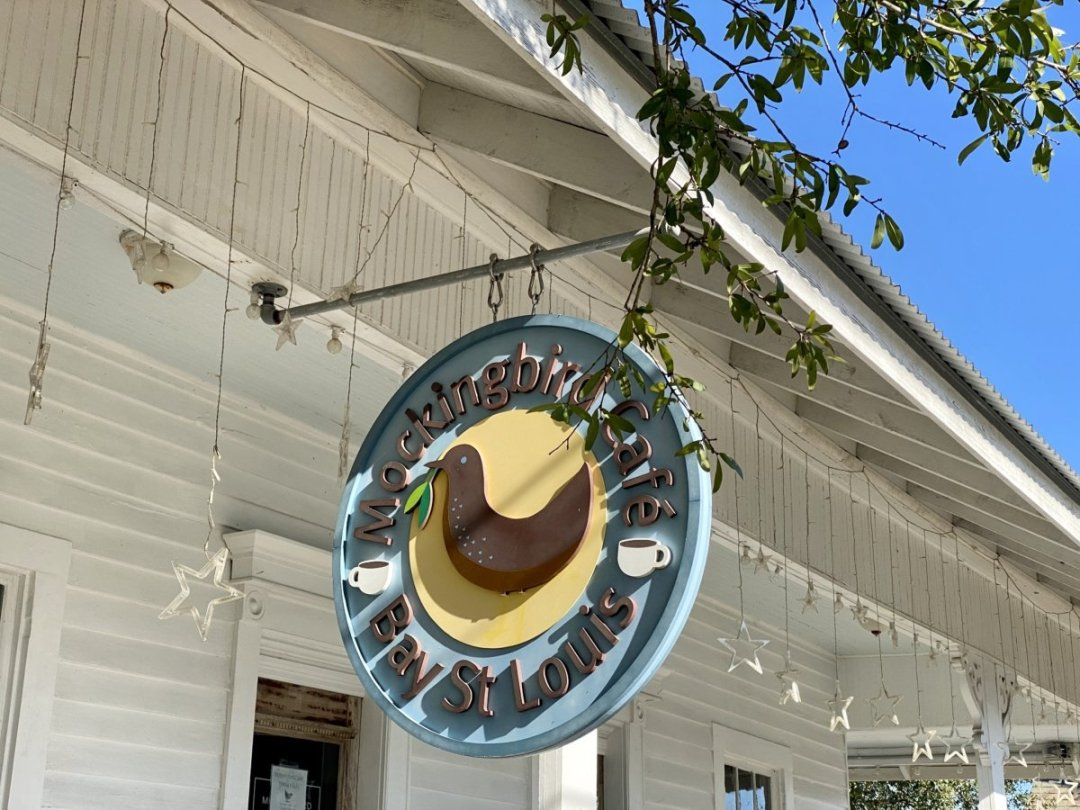 Mockingbird Cafe sign - 18 Favorite Mississippi Gulf Coast Restaurants