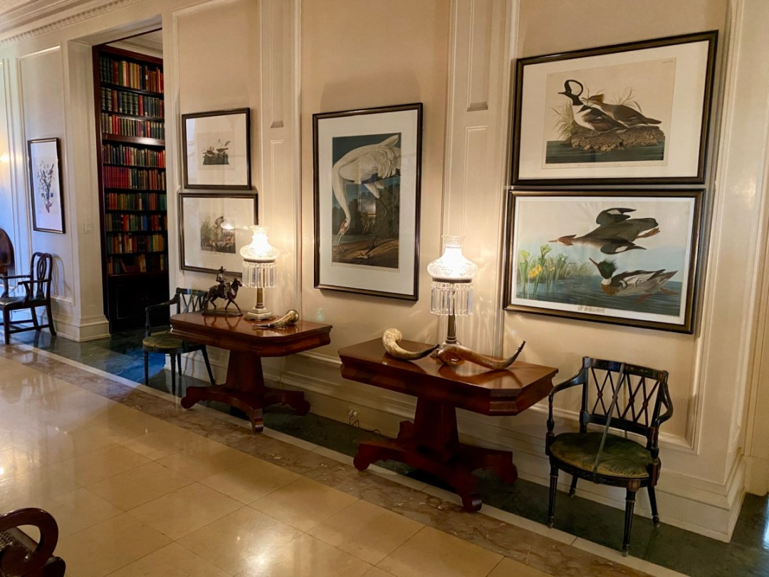 Audubon prints at Pebble Hill - Encounter Historic Quail Hunt Plantations in Thomasville GA