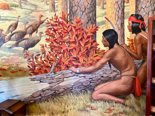 Pebble Hill Indian room mural - Encounter Historic Quail Hunt Plantations in Thomasville GA