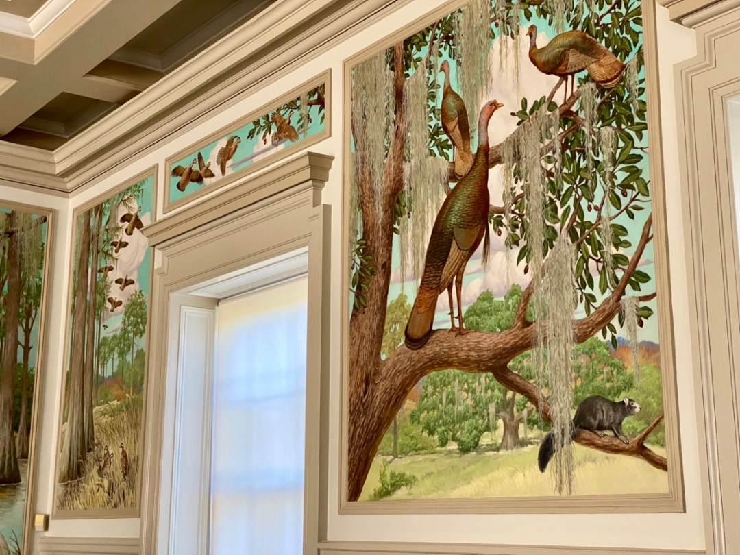 Pebble Hill turkey mural - Encounter Historic Quail Hunt Plantations in Thomasville GA