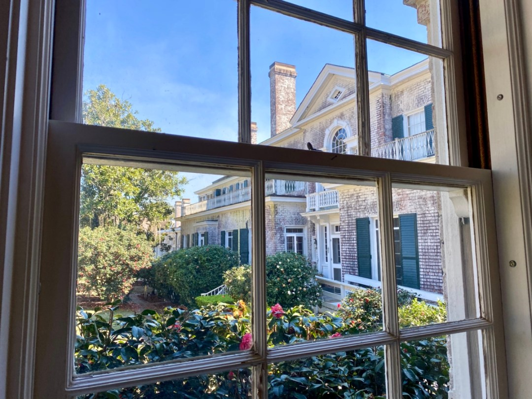 Pebble Hill window view - Encounter Historic Quail Hunt Plantations in Thomasville GA