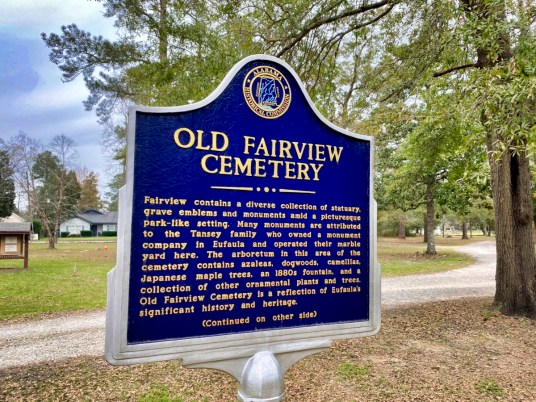 Fairview Cemetery marker Eufaula AL - Outdoor & Historical Things to Do in Eufaula Alabama