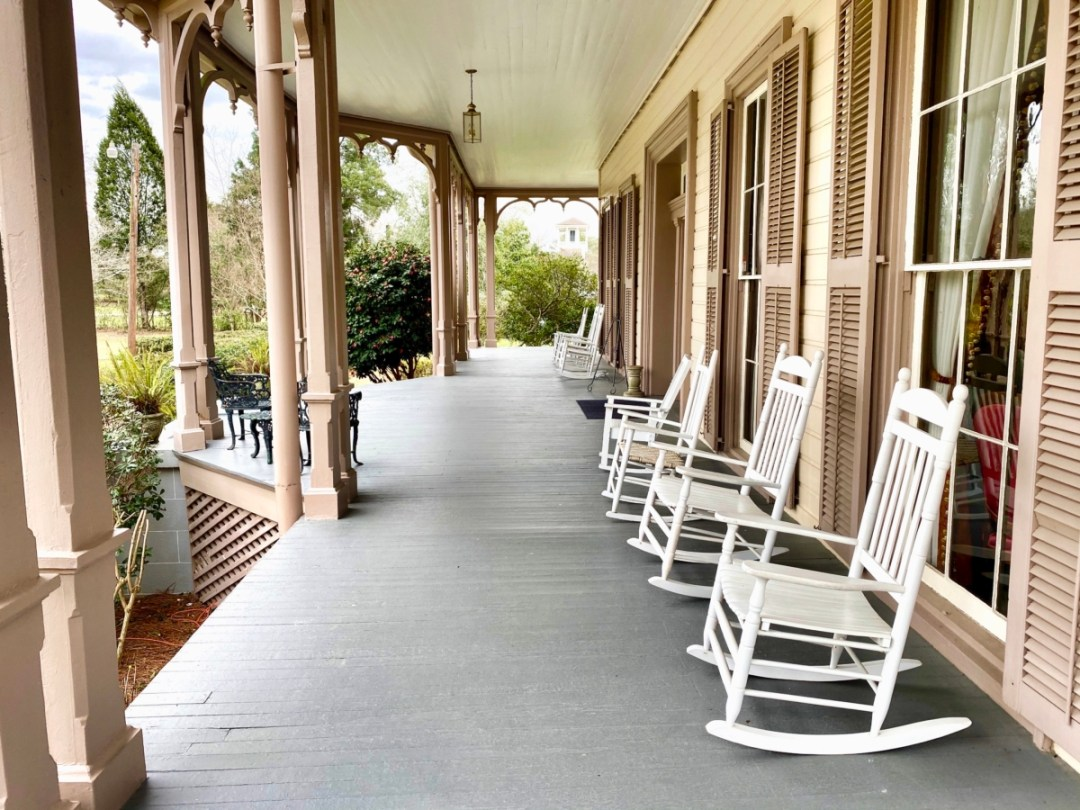 Fendall Hall porch - Outdoor & Historical Things to Do in Eufaula Alabama