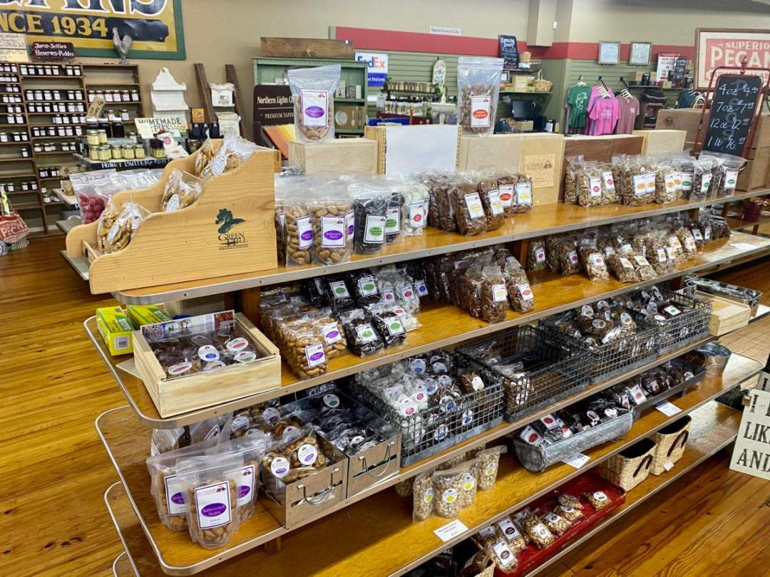 Superior Pecans interior - Outdoor & Historical Things to Do in Eufaula Alabama