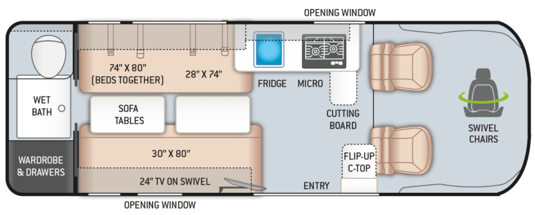 2021 Sequence 20L Floor Plan e1616972183120 - A Guide for Buying a Camper Van: My Story & Lessons Learned