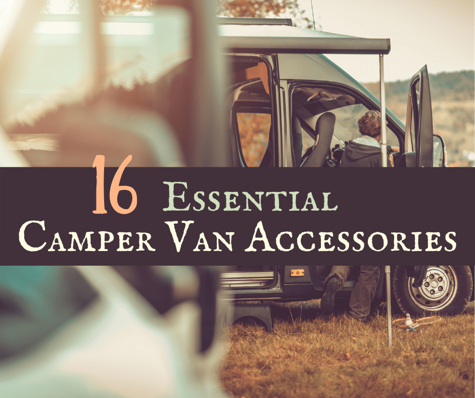 Essential Camper Van Accessories featured - Backroad Blog
