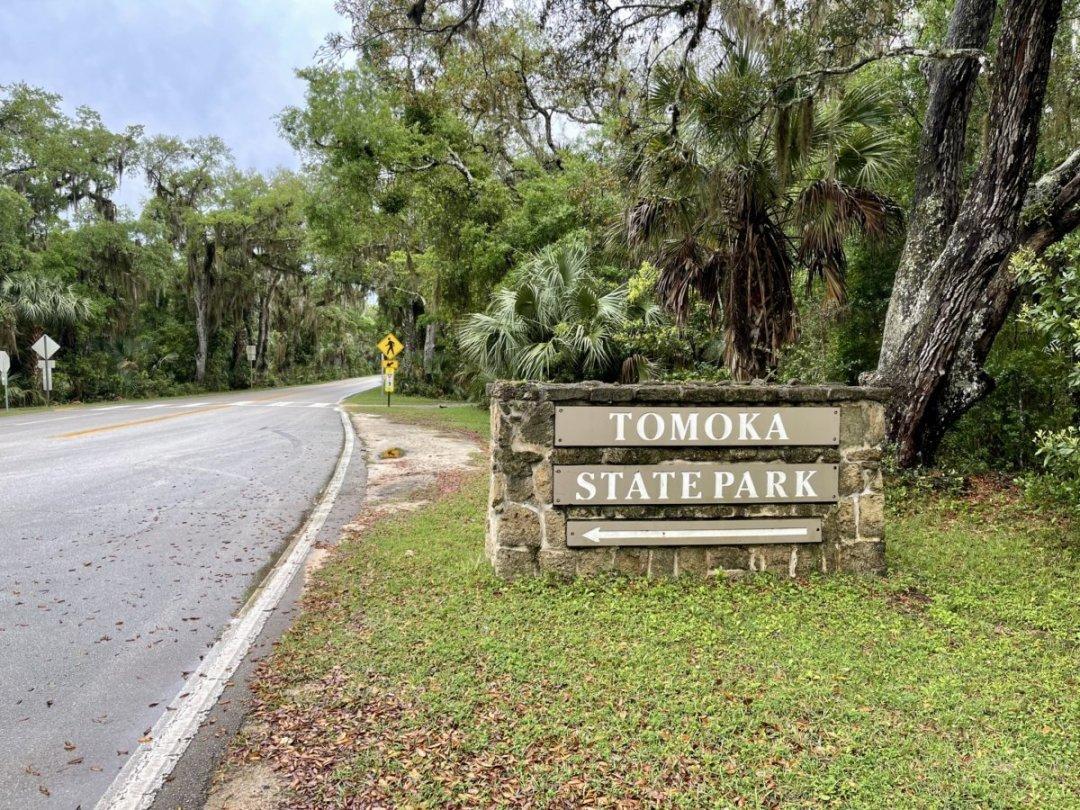 Tomoka State Park sign - Florida's Tomoka State Park Camping, Recreation & History