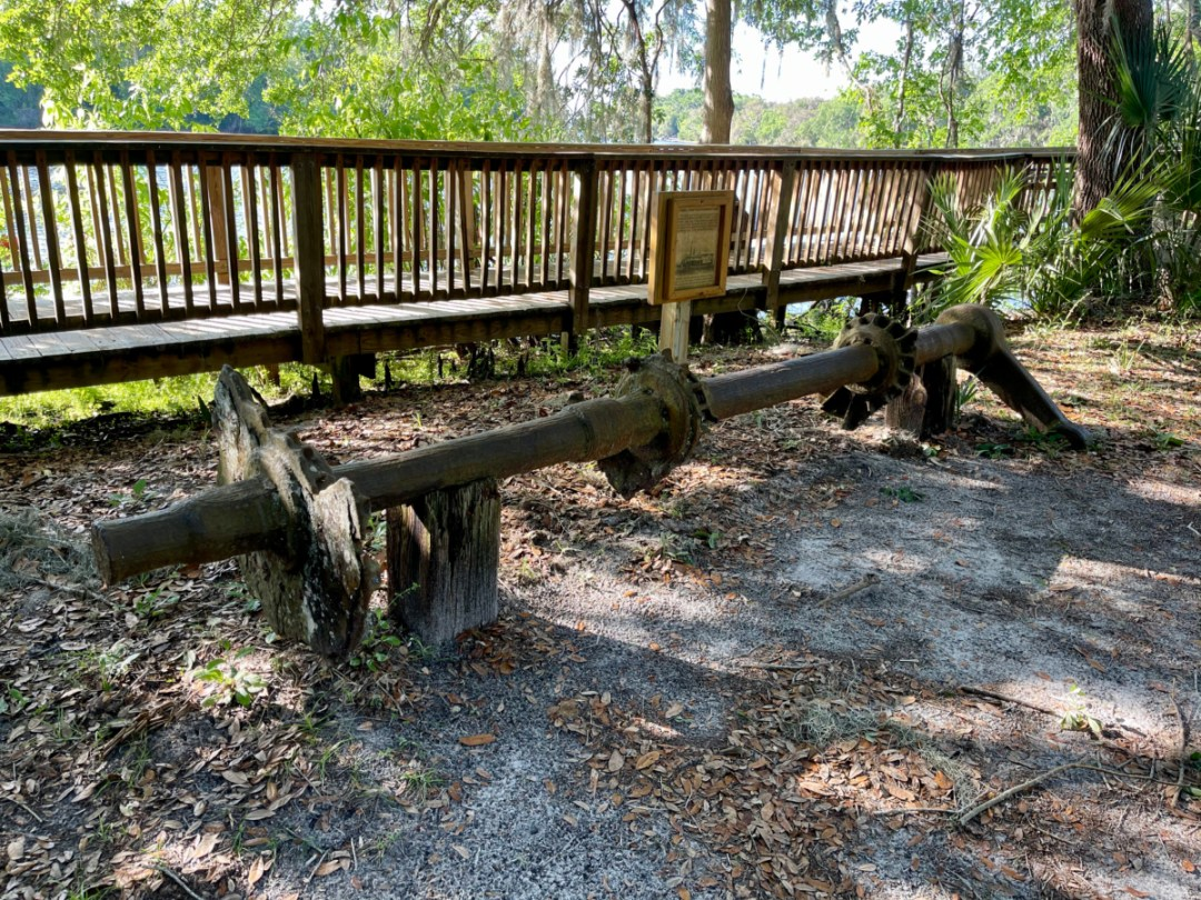 steamboat paddlewheel shaft - Discover Florida's Blue Spring State Park & Campground