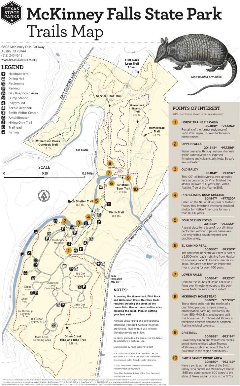 McKinney Falls State Park Trails Map  - Plan an Unforgettable McKinney Falls State Park Camping Trip