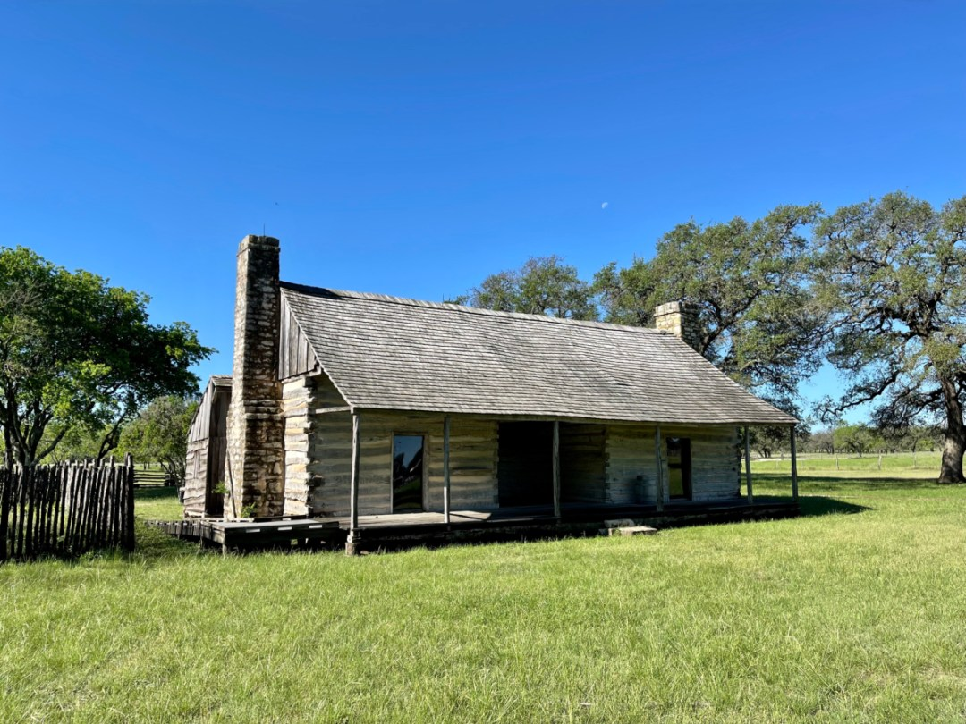 Johnson Settlement log cabin - Explore LBJ Ranch and the Texas Hill Country