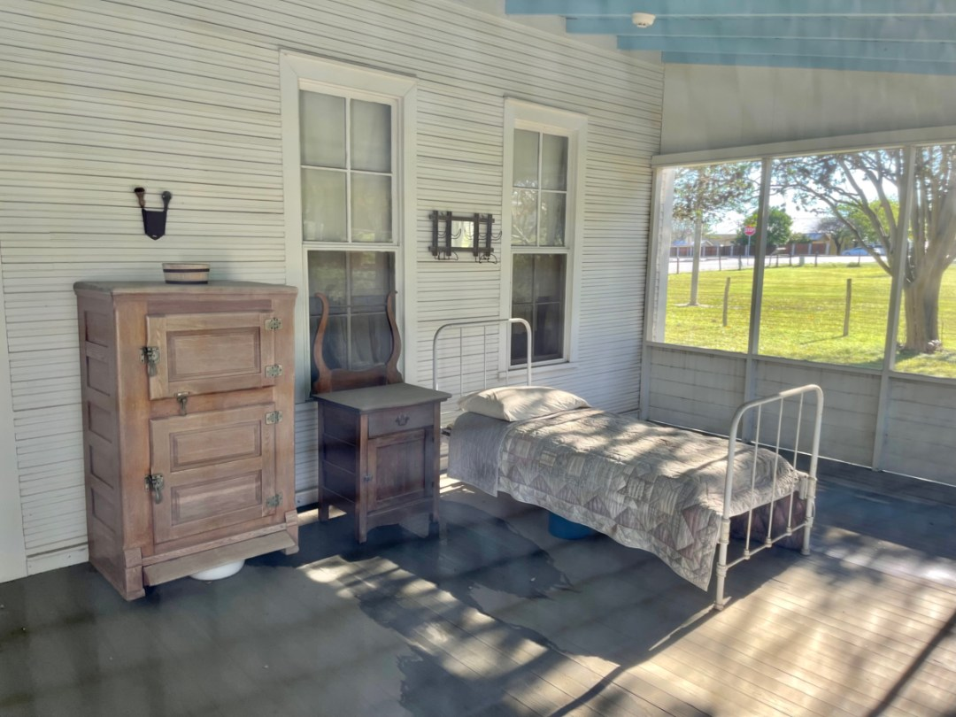 LBJ Boyhood Home screened porch - Explore LBJ Ranch and the Texas Hill Country