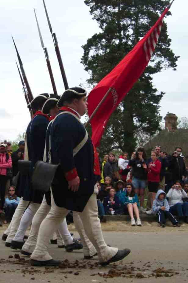 Revolutionary War soldiers at Colonial Williamsburg