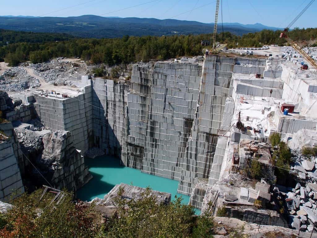 The Rock of Ages Quarry by Matt Lancashire Autumn in Vermont