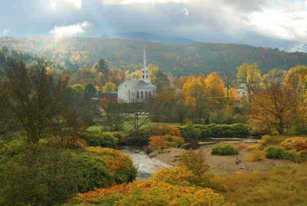 Stowe, Vermont by Ryan Taylor Autumn in Vermont