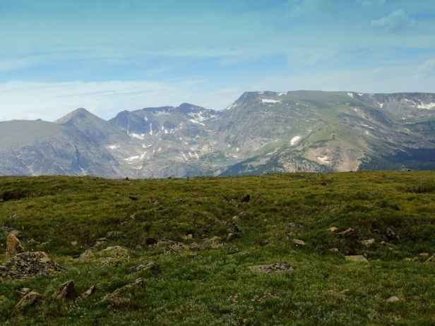On the Alpine Ridge Trail there are mountain views in every direction.