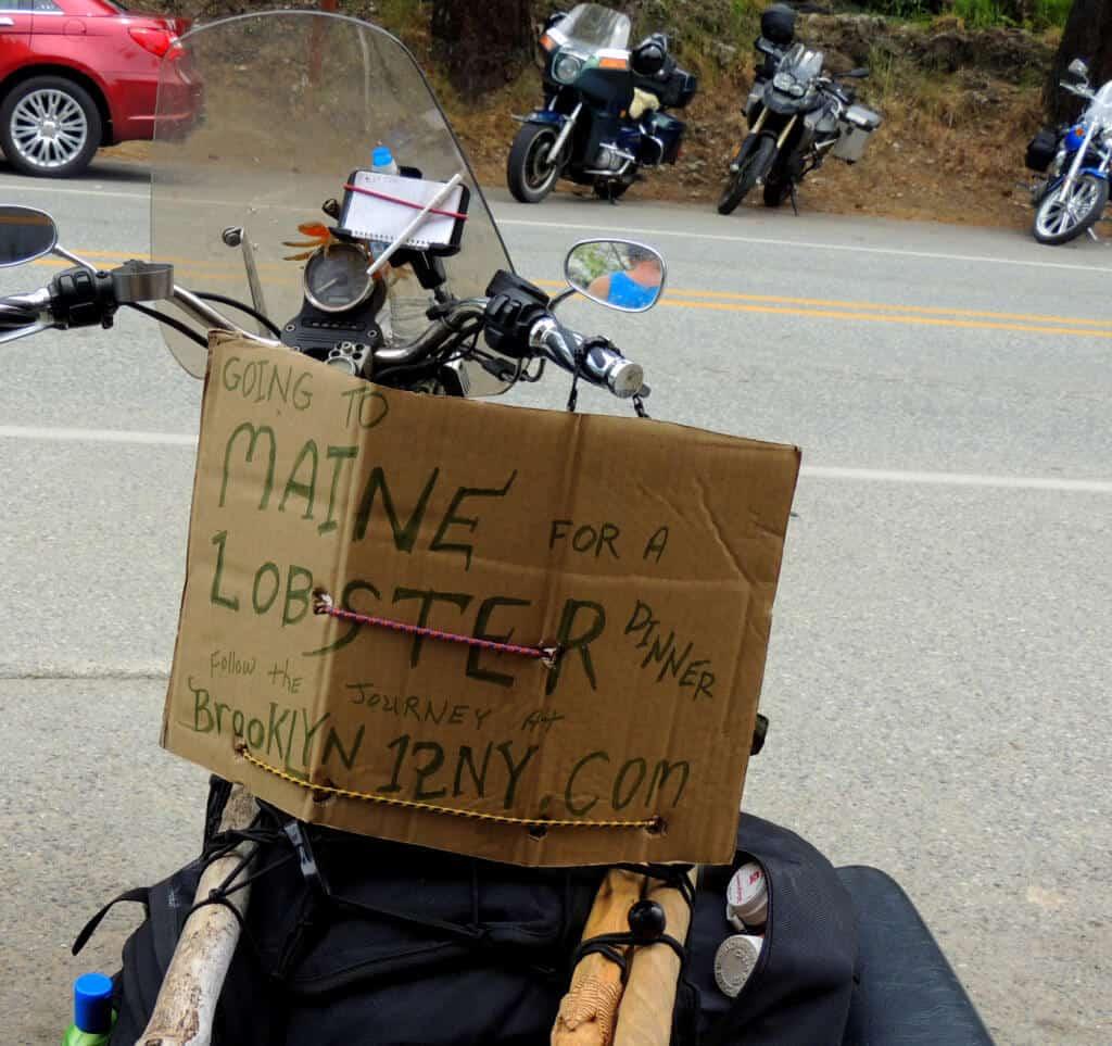 a motorcyle in Winthrop, Washington
