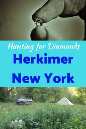 A local campground in Herkimer, New York, and a Herkimer Diamond