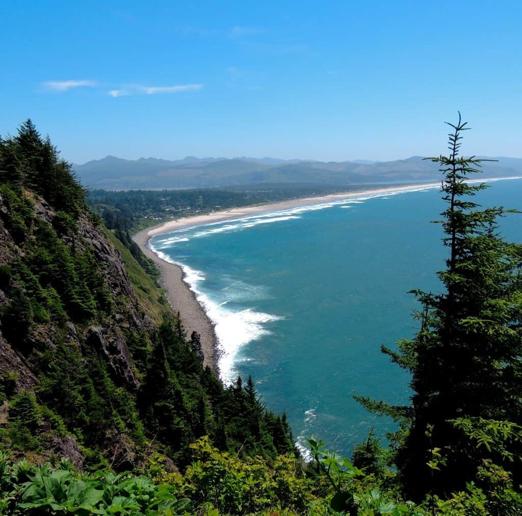 A cliffside view from Oregon Coast Highway 101