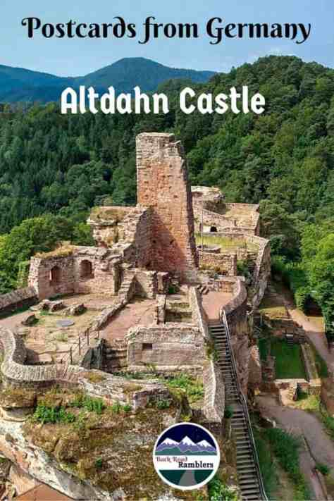 Explore the Altdahn Castle ruins in Southwestern Germany