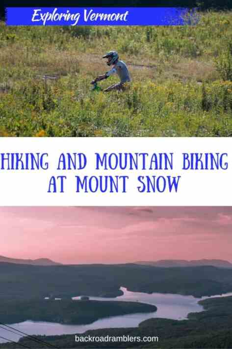 Looking for a bit of adventure for your next family vacation? How about downhill mountain biking in Southern Vermont? Mount Snow has mountain biking trails for everyone, from beginners to experts, and the scenery is pretty amazing too!