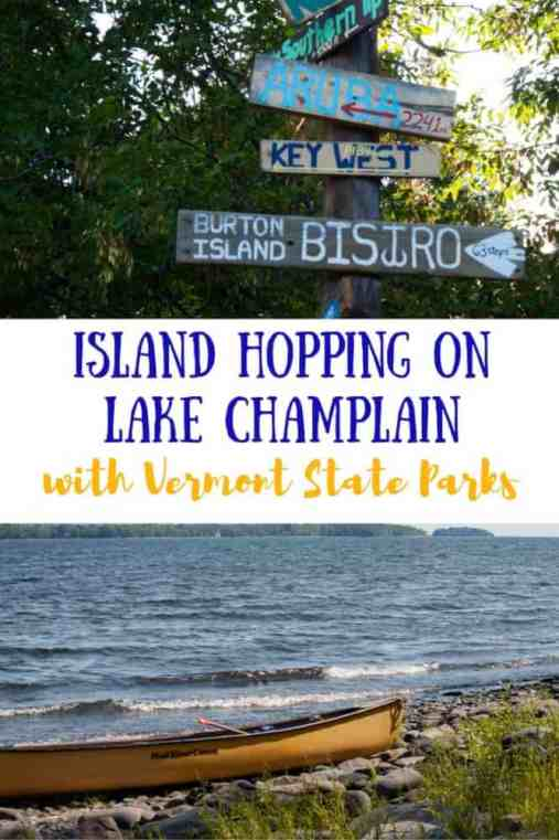 There are 10 Vermont State Parks in the Lake Champlain Islands! Here's how to plan the perfect summer vacation island hopping around the island parks, including Burton Island State Park, Knight Island, Woods Island, and Kamp Kill Kare. This is a paddler's dream!