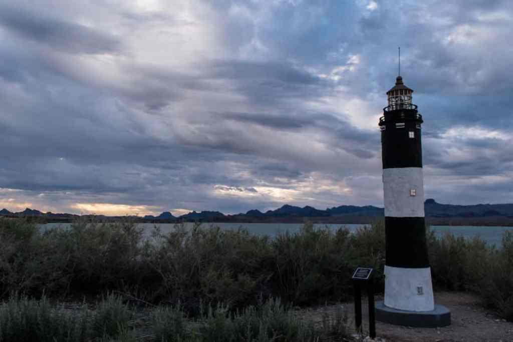 The Fire Island Lighthouse replica in Lake Havasu City, AZ