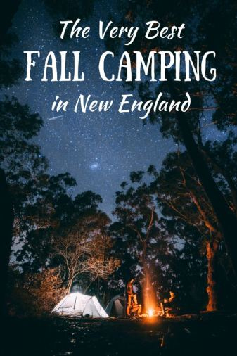 A campfire and tents under a starry sky