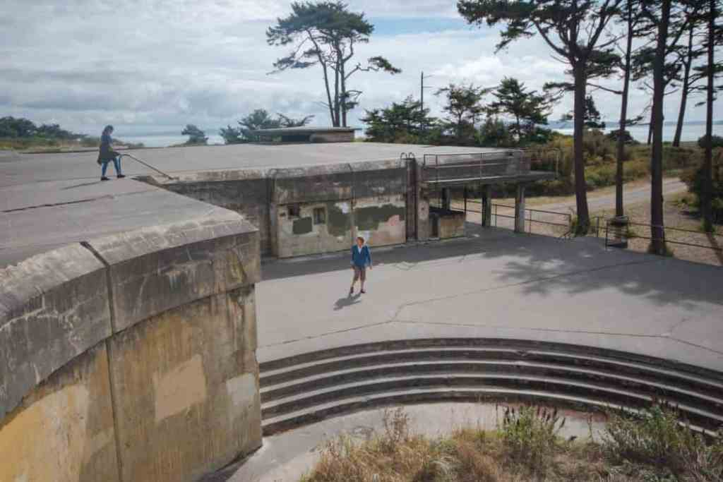 One of the Fort Worden bunkers in Port Townsend