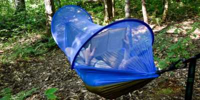 FiveJoy Pop up Mosquito Net Hammock