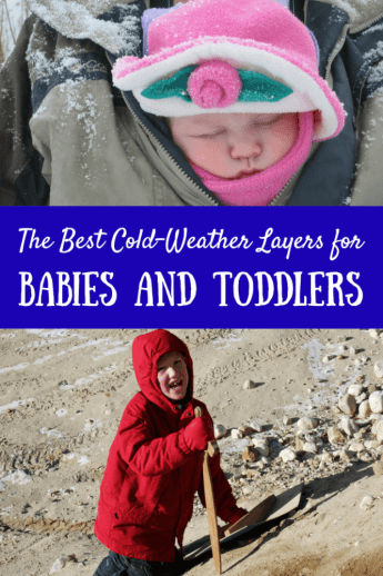 Getting outside with little ones can be tough. These are our favorite cold-weather layers for babies and toddlers. #winter #clothing #Patagonia